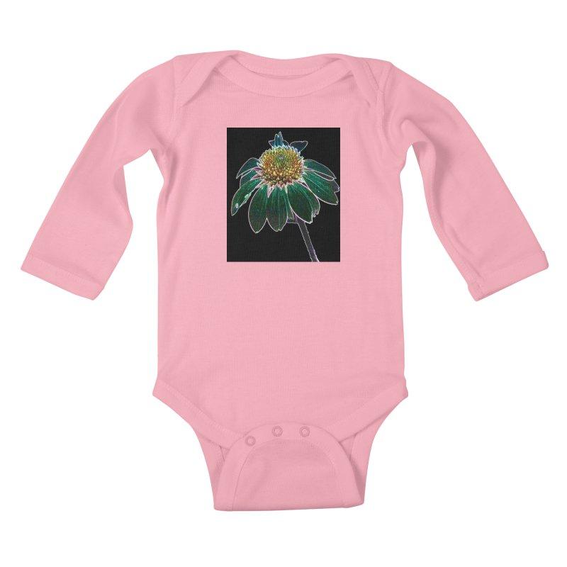 Glowing Bloom Kids Baby Longsleeve Bodysuit by designsbydana's Artist Shop