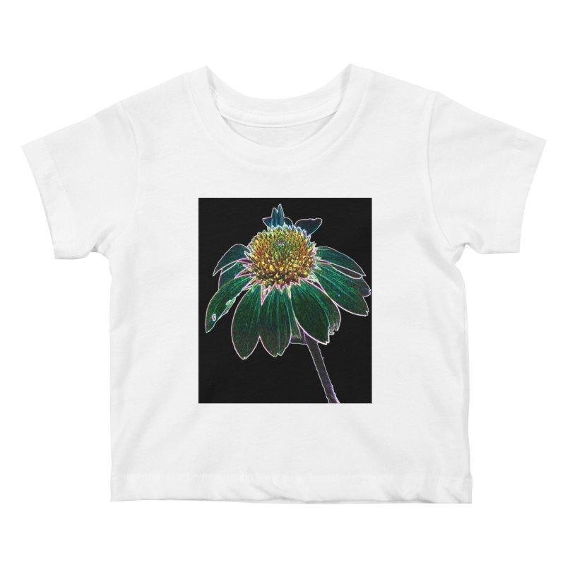 Glowing Bloom Kids Baby T-Shirt by designsbydana's Artist Shop