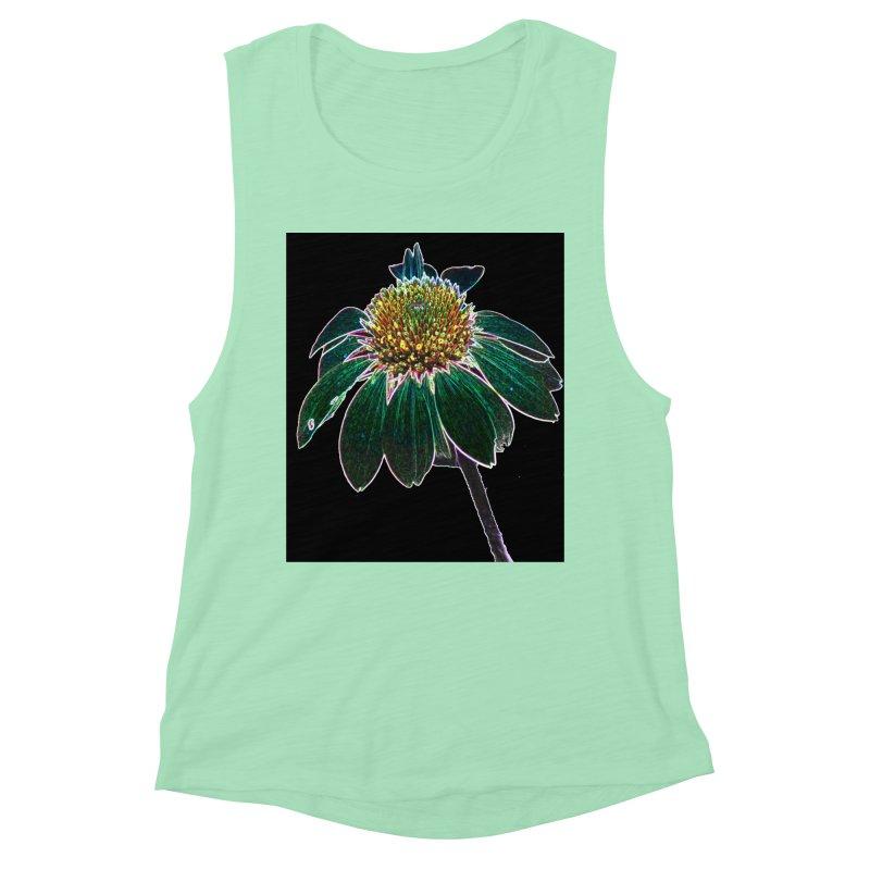 Glowing Bloom Women's Muscle Tank by designsbydana's Artist Shop
