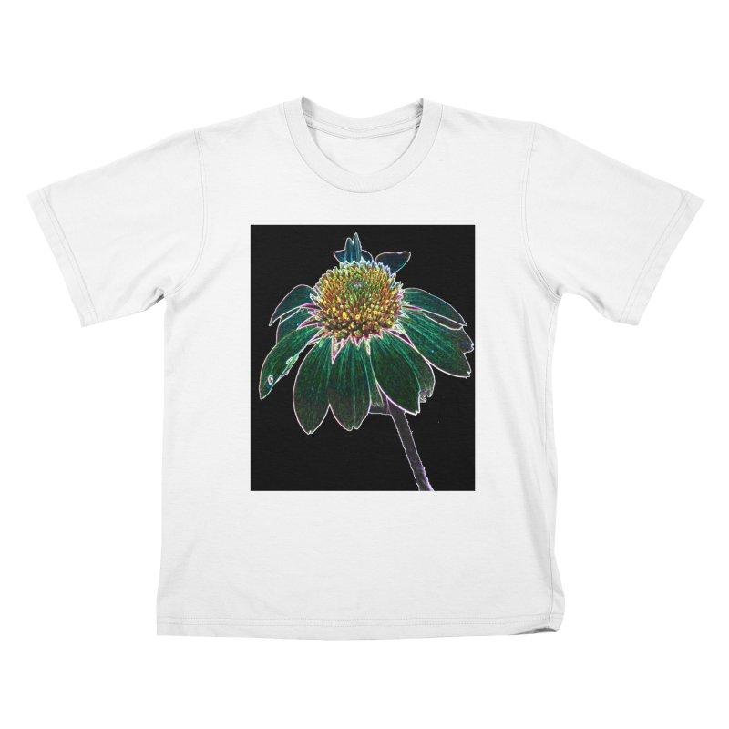 Glowing Bloom Kids T-Shirt by designsbydana's Artist Shop