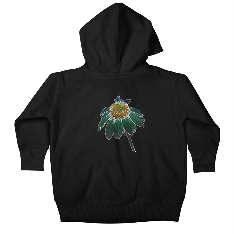 Glowing Bloom Kids Baby Zip-Up Hoody by designsbydana's Artist Shop