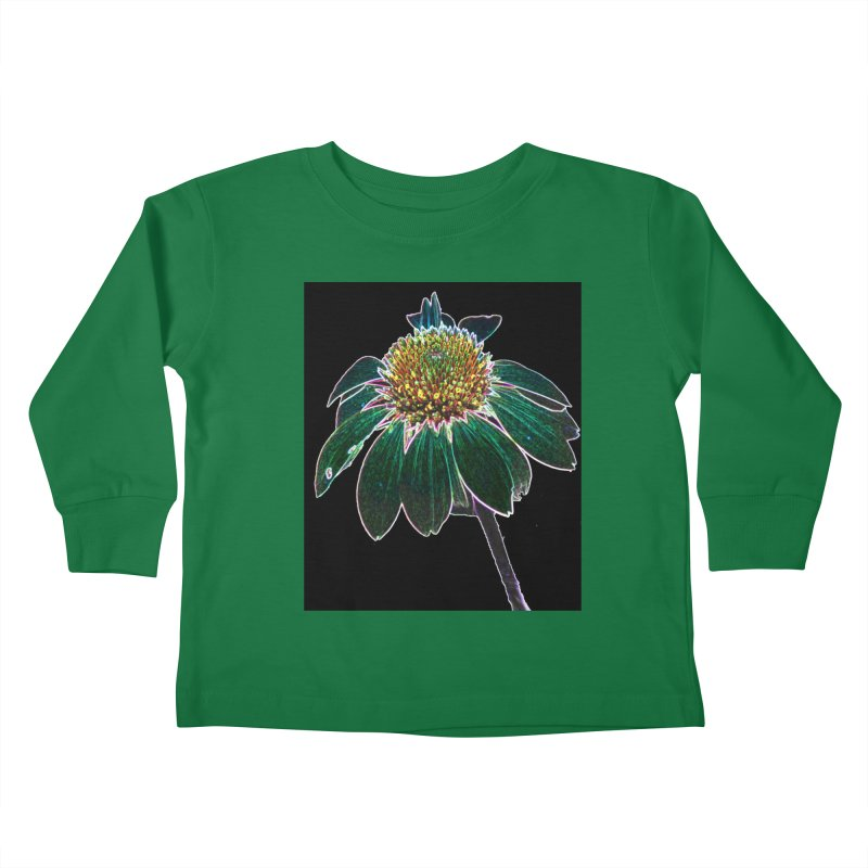 Glowing Bloom Kids Toddler Longsleeve T-Shirt by designsbydana's Artist Shop