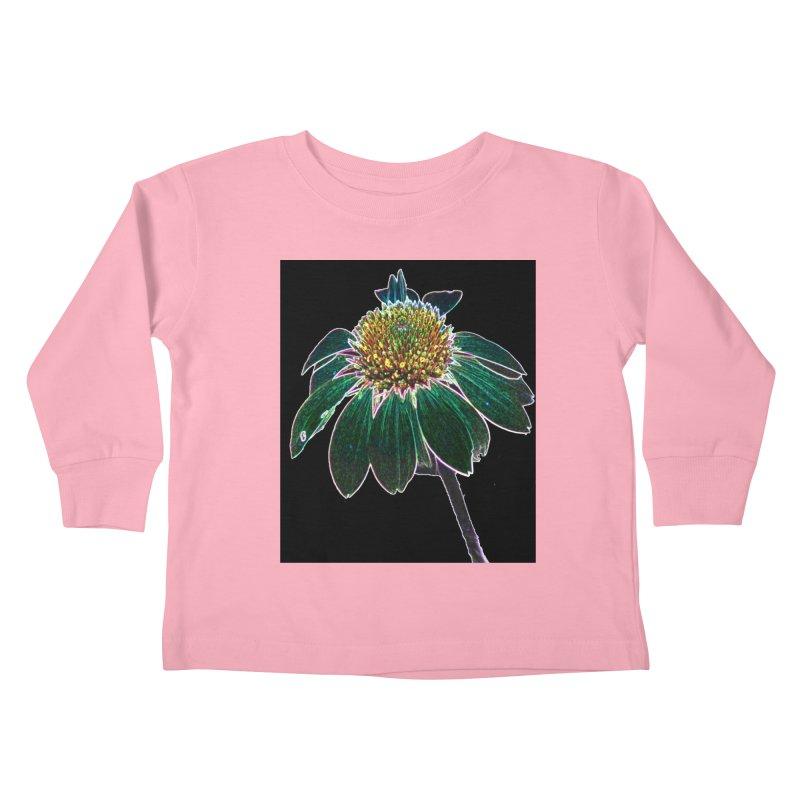 Glowing Bloom Kids Toddler Longsleeve T-Shirt by designsbydana's Artist Shop