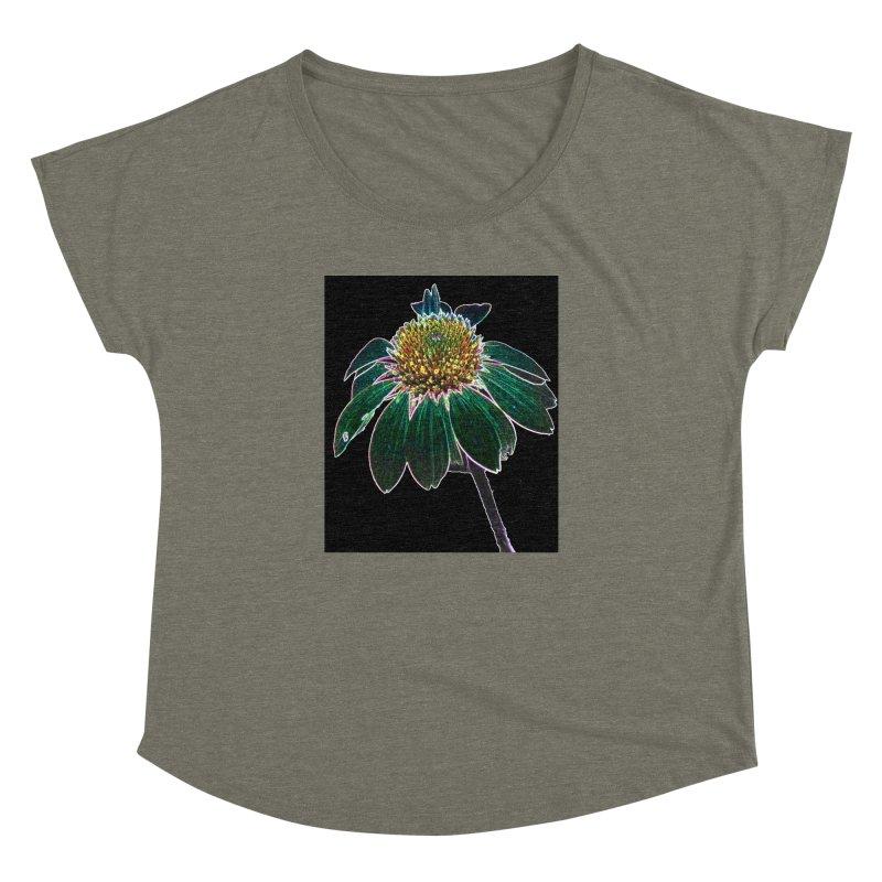 Glowing Bloom Women's Dolman Scoop Neck by designsbydana's Artist Shop