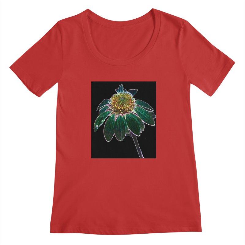 Glowing Bloom Women's Regular Scoop Neck by designsbydana's Artist Shop