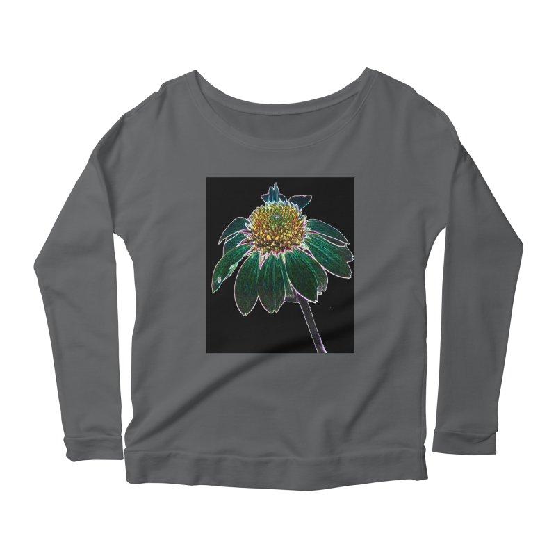 Glowing Bloom Women's Scoop Neck Longsleeve T-Shirt by designsbydana's Artist Shop