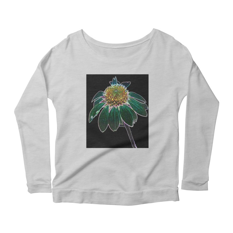 Glowing Bloom Women's Scoop Neck Longsleeve T-Shirt by designsbydana's Artist Shop