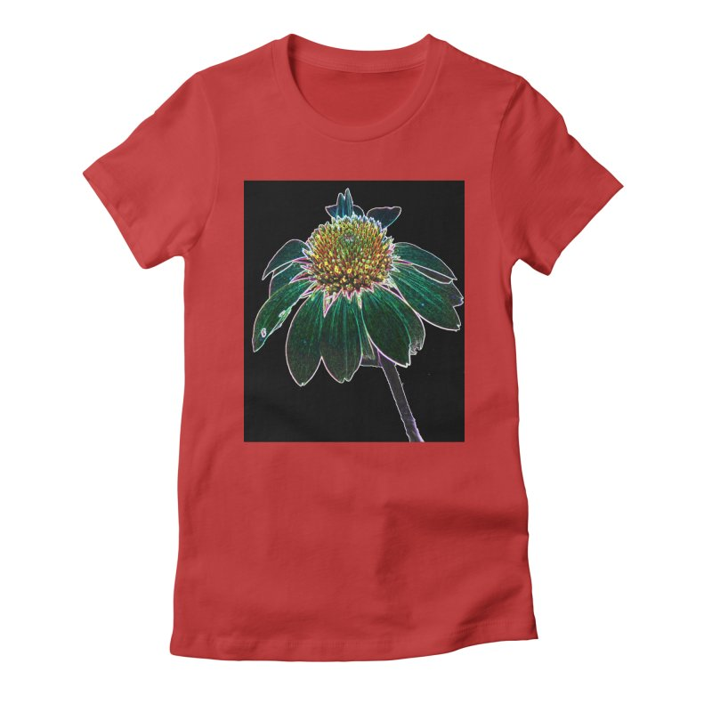 Glowing Bloom Women's Fitted T-Shirt by designsbydana's Artist Shop