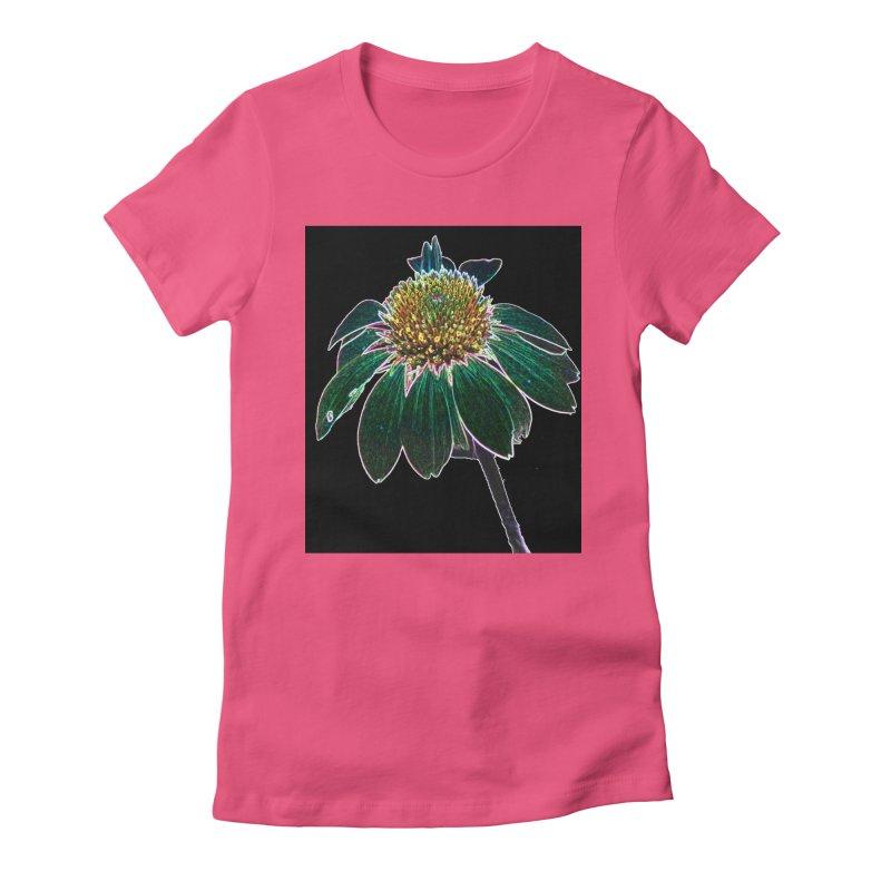 Glowing Bloom Women's Fitted T-Shirt by designsbydana's Artist Shop