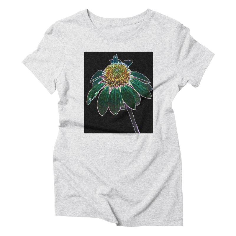Glowing Bloom Women's Triblend T-Shirt by designsbydana's Artist Shop