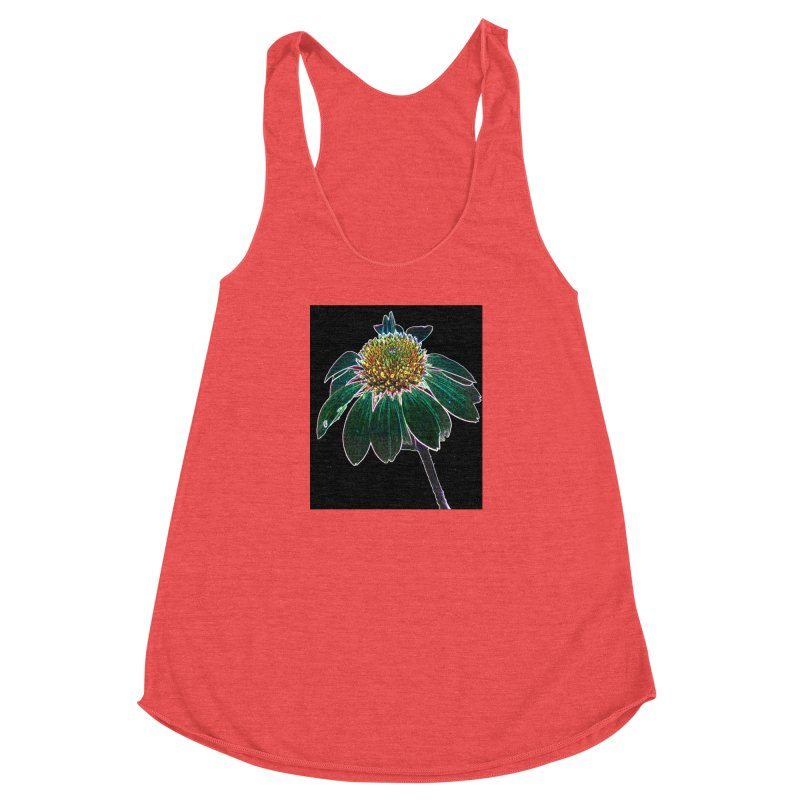 Glowing Bloom Women's Racerback Triblend Tank by designsbydana's Artist Shop