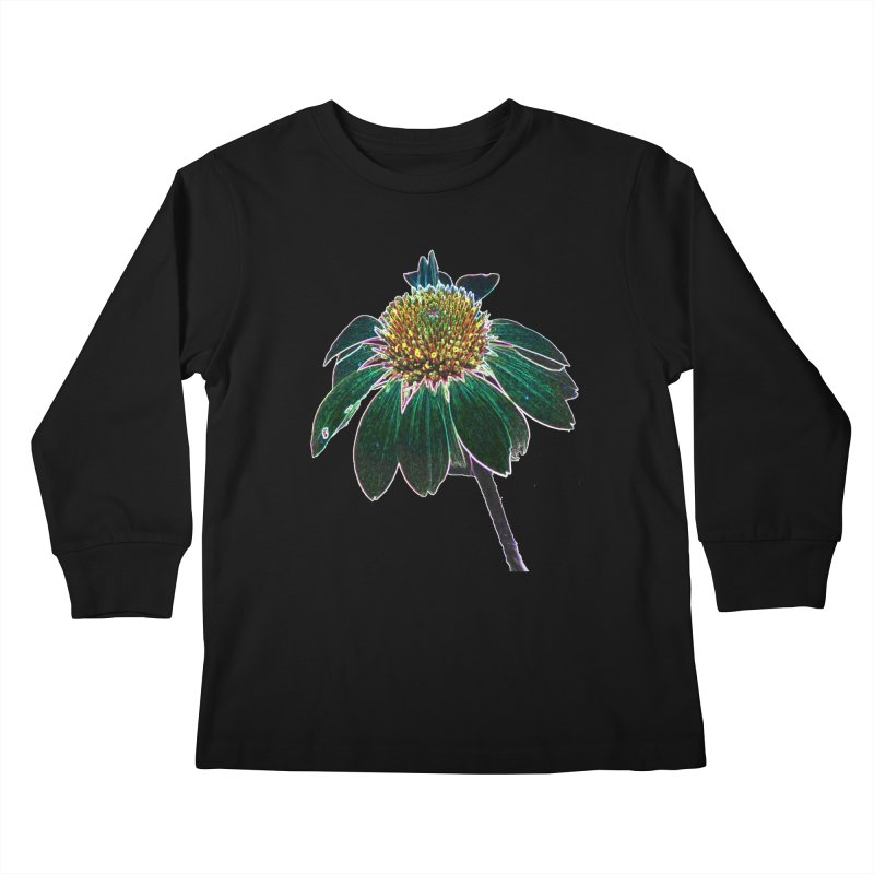 Glowing Bloom Kids Longsleeve T-Shirt by designsbydana's Artist Shop