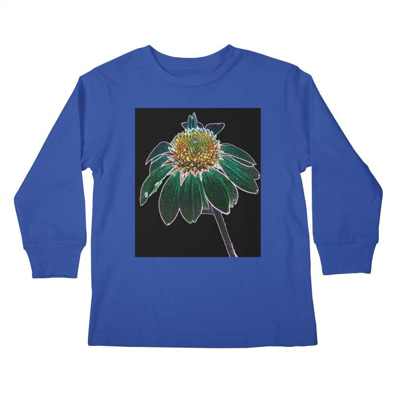 Glowing Bloom Kids Longsleeve T-Shirt by designsbydana's Artist Shop