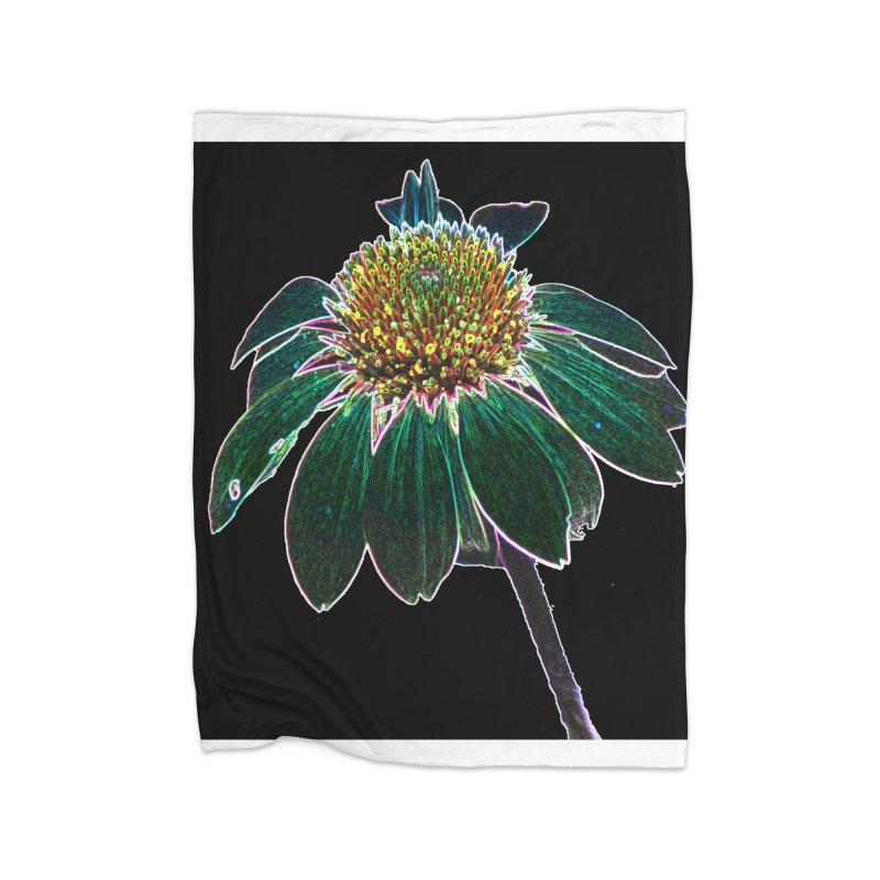 Glowing Bloom Home Fleece Blanket Blanket by designsbydana's Artist Shop