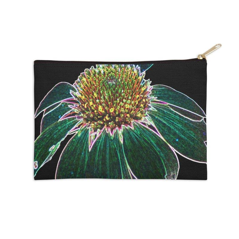 Glowing Bloom Accessories Zip Pouch by designsbydana's Artist Shop