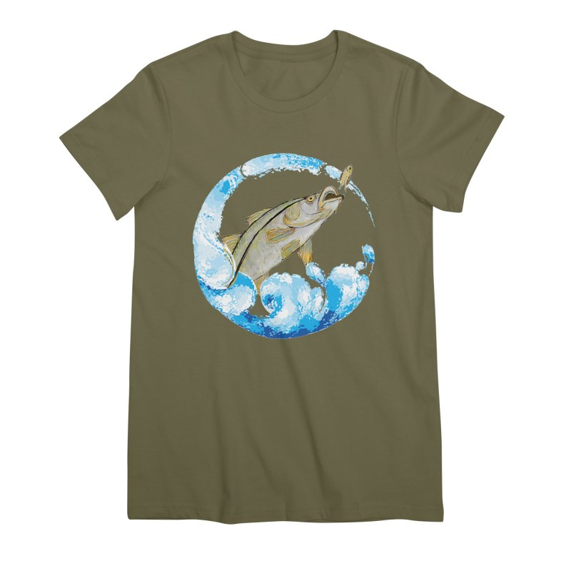 Leaping Snook Women's Premium T-Shirt by designsbydana's Artist Shop
