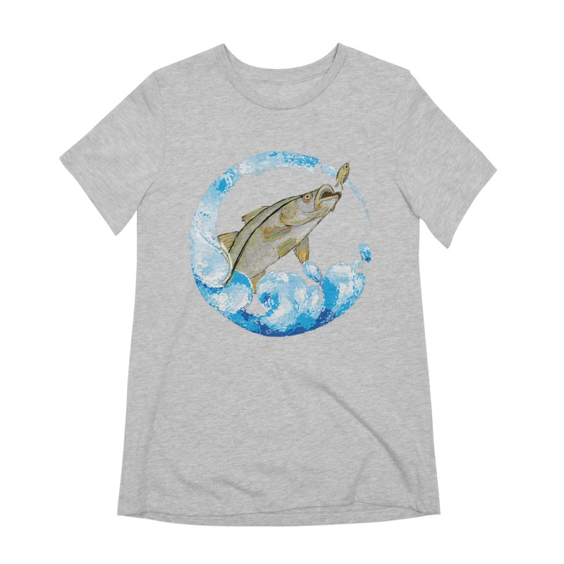 Leaping Snook Women's Extra Soft T-Shirt by designsbydana's Artist Shop