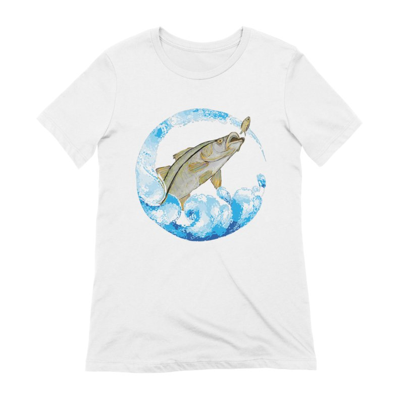 Leaping Snook Women's Extra Soft T-Shirt by designsbydana's Artist Shop