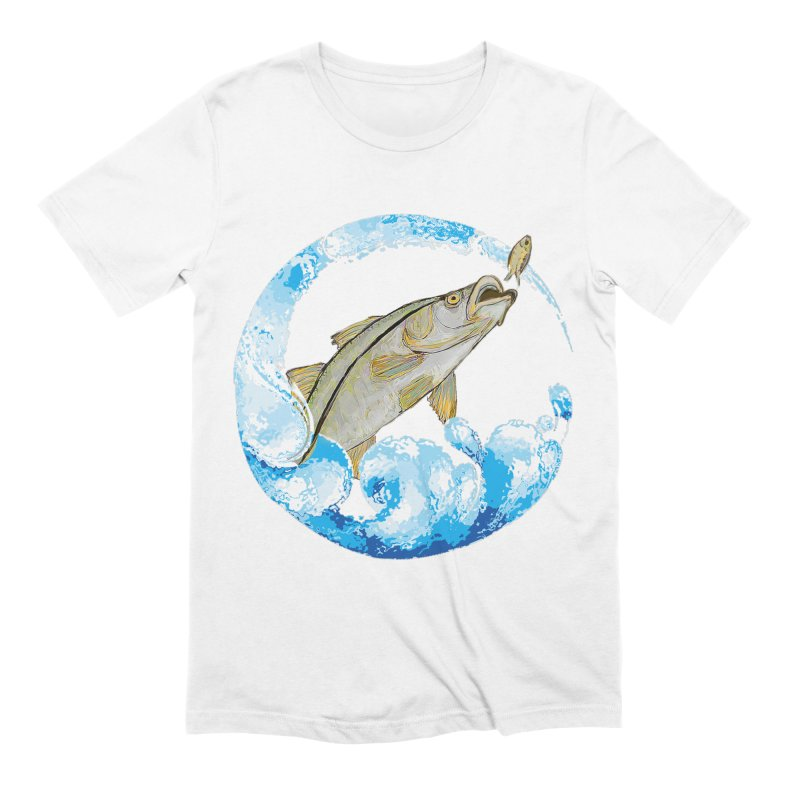 Leaping Snook Men's Extra Soft T-Shirt by designsbydana's Artist Shop