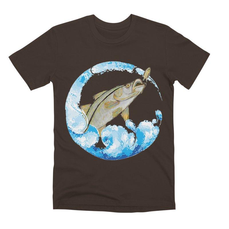 Leaping Snook Men's Premium T-Shirt by designsbydana's Artist Shop