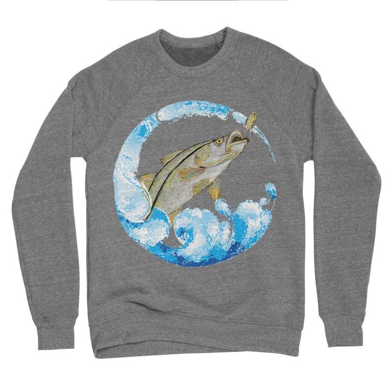Leaping Snook Men's Sponge Fleece Sweatshirt by designsbydana's Artist Shop