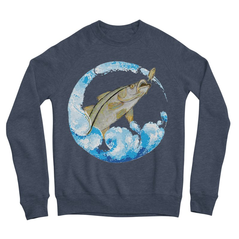Leaping Snook Women's Sponge Fleece Sweatshirt by designsbydana's Artist Shop