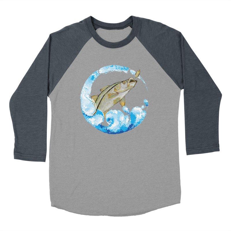 Leaping Snook Men's Baseball Triblend Longsleeve T-Shirt by designsbydana's Artist Shop