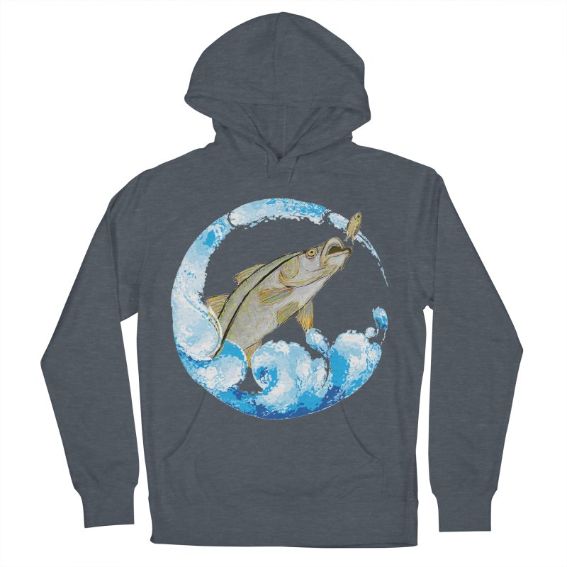 Leaping Snook Women's French Terry Pullover Hoody by designsbydana's Artist Shop