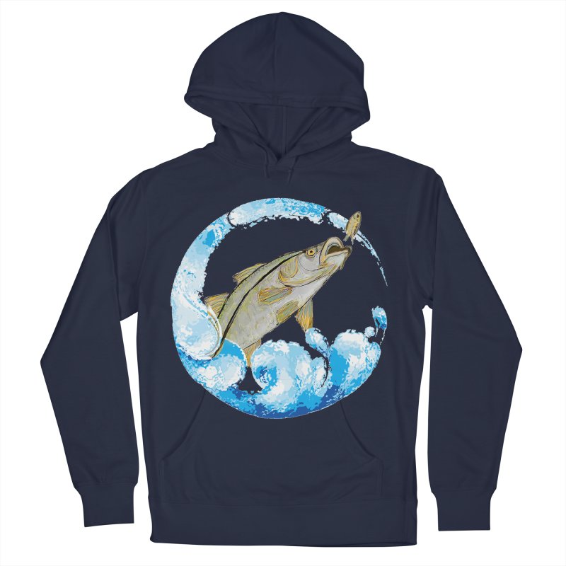 Leaping Snook Men's Pullover Hoody by designsbydana's Artist Shop