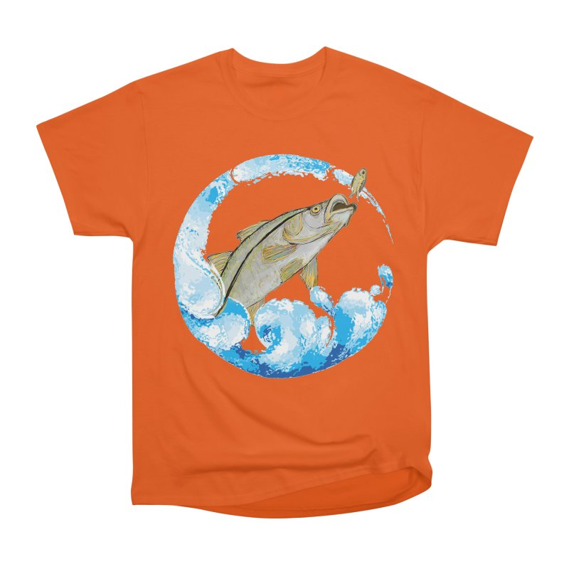 Leaping Snook Men's T-Shirt by designsbydana's Artist Shop