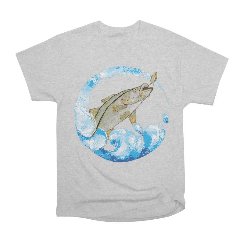 Leaping Snook Men's Heavyweight T-Shirt by designsbydana's Artist Shop