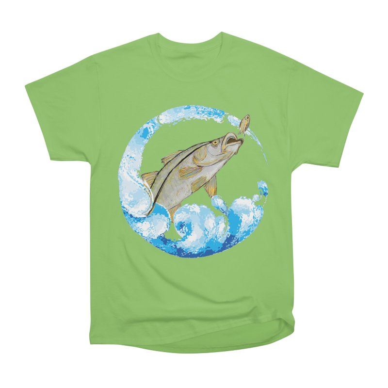 Leaping Snook Women's Heavyweight Unisex T-Shirt by designsbydana's Artist Shop