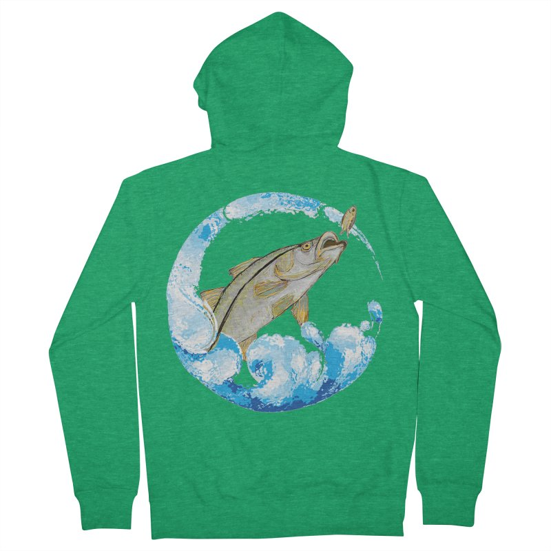 Leaping Snook Women's Zip-Up Hoody by designsbydana's Artist Shop