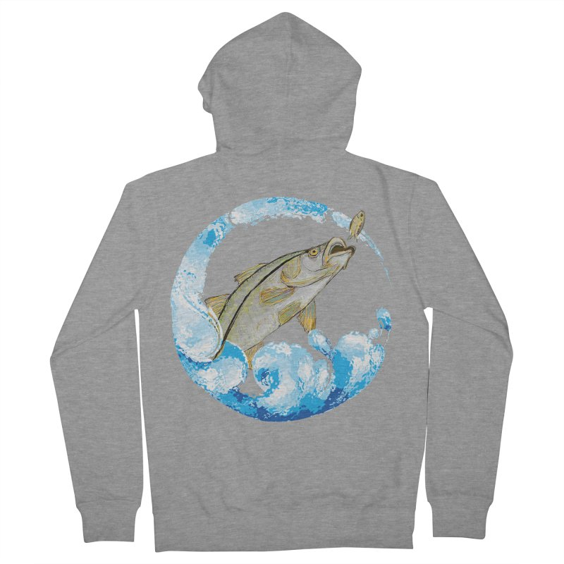 Leaping Snook Women's French Terry Zip-Up Hoody by designsbydana's Artist Shop