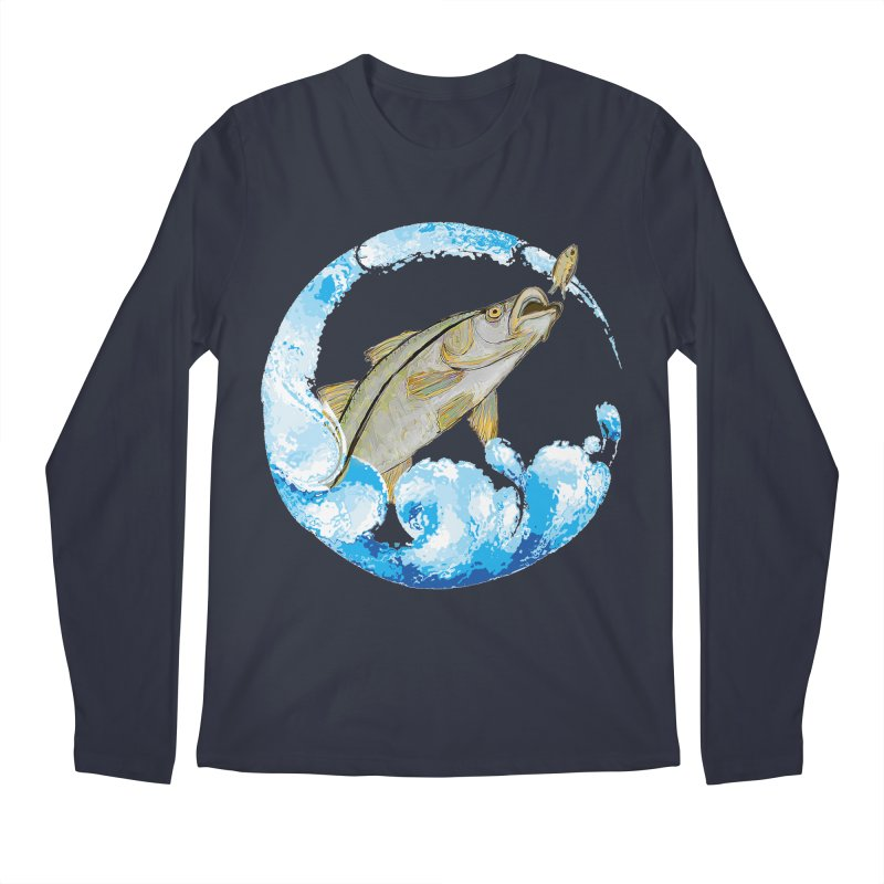 Leaping Snook Men's Regular Longsleeve T-Shirt by designsbydana's Artist Shop