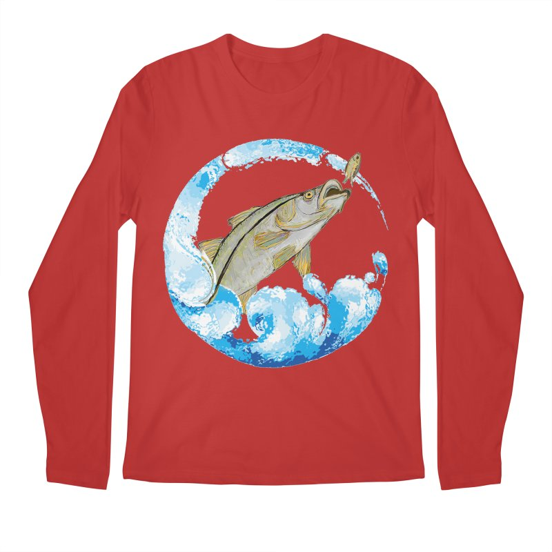 Leaping Snook Men's Regular Longsleeve T-Shirt by designsbydana's Artist Shop