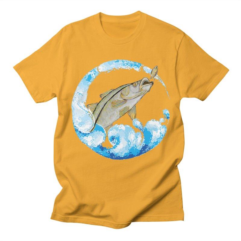 Leaping Snook Men's Regular T-Shirt by designsbydana's Artist Shop