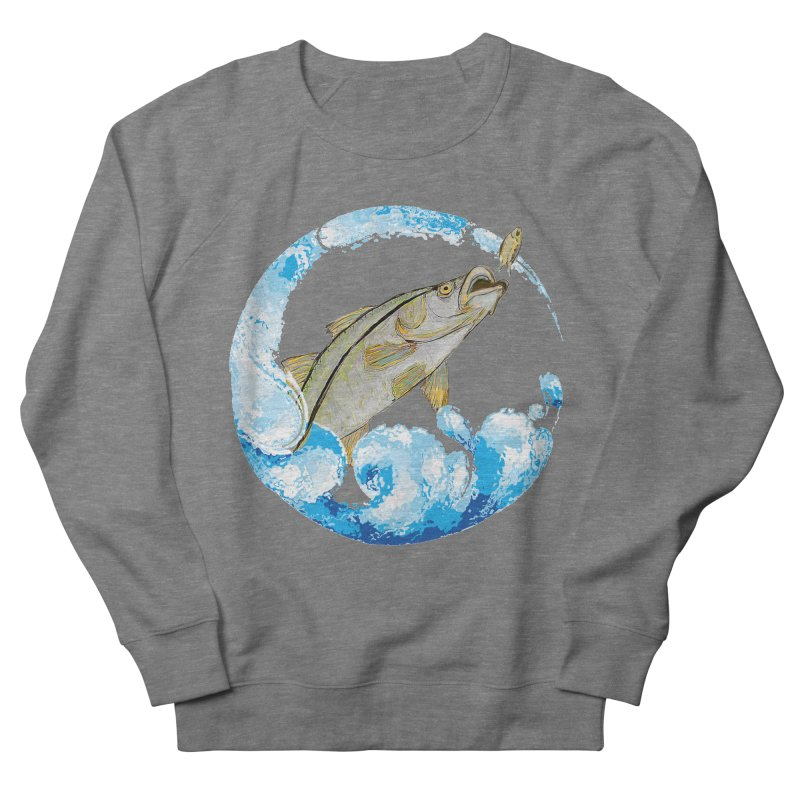 Leaping Snook Women's French Terry Sweatshirt by designsbydana's Artist Shop