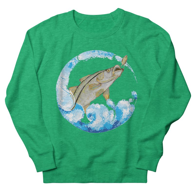 Leaping Snook Men's French Terry Sweatshirt by designsbydana's Artist Shop