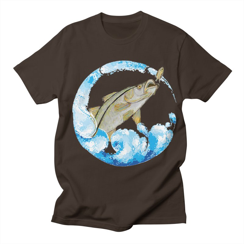 Leaping Snook Men's Regular T-Shirt by designsbydana's Artist Shop