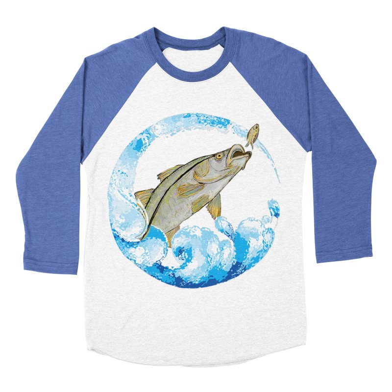Leaping Snook Women's Baseball Triblend Longsleeve T-Shirt by designsbydana's Artist Shop
