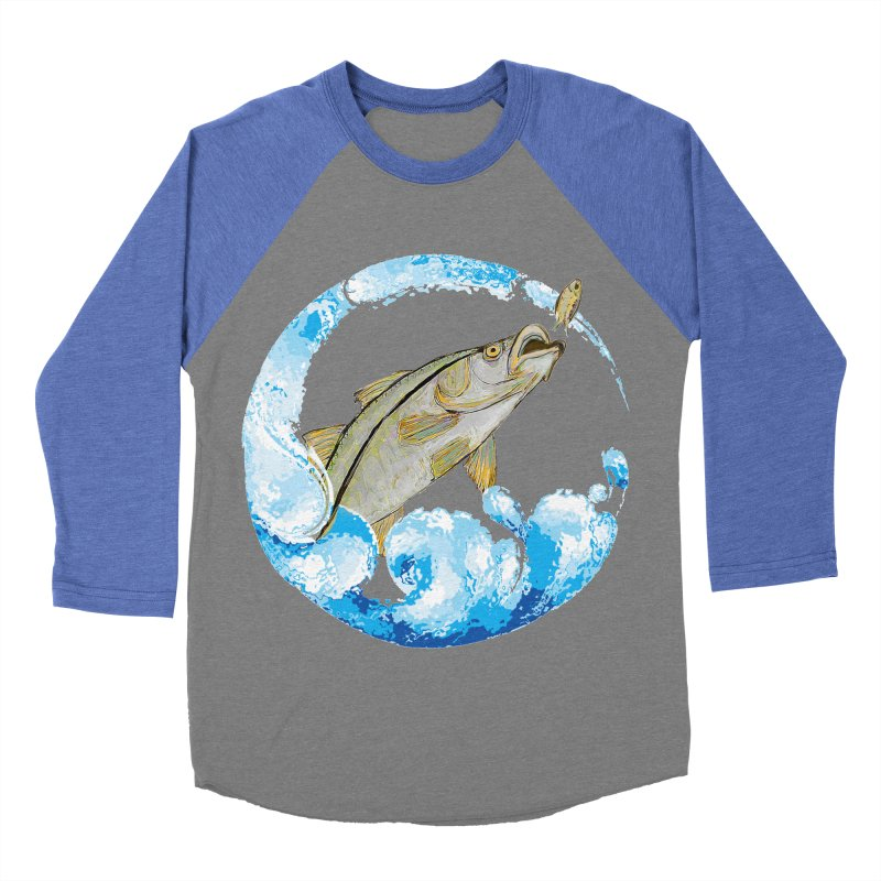 Leaping Snook Men's Baseball Triblend Longsleeve T-Shirt by designsbydana's Artist Shop