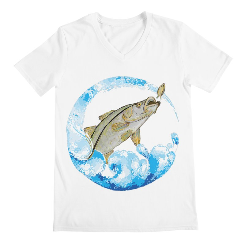 Leaping Snook Men's V-Neck by designsbydana's Artist Shop