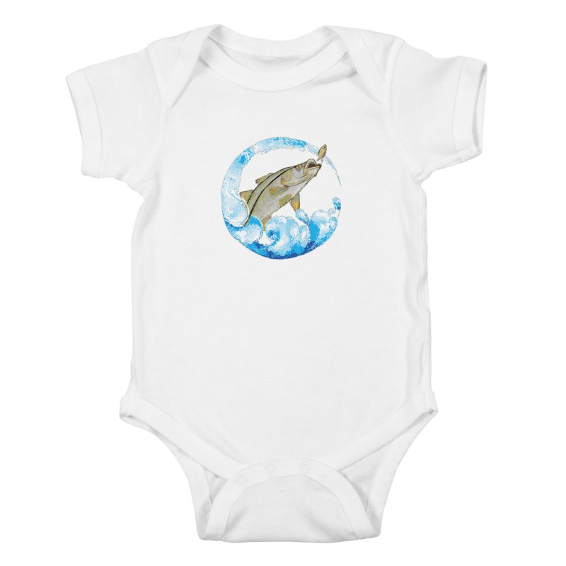 Leaping Snook Kids Baby Bodysuit by designsbydana's Artist Shop