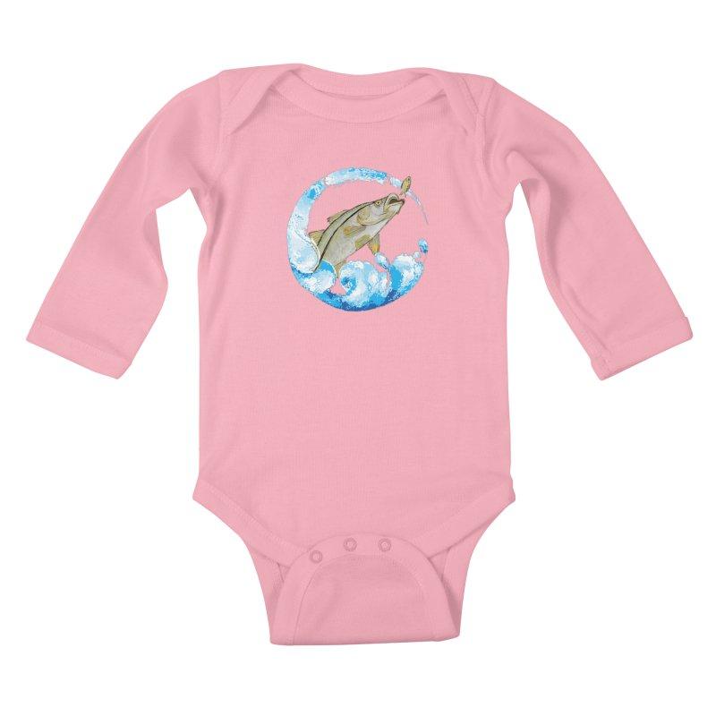 Leaping Snook Kids Baby Longsleeve Bodysuit by designsbydana's Artist Shop