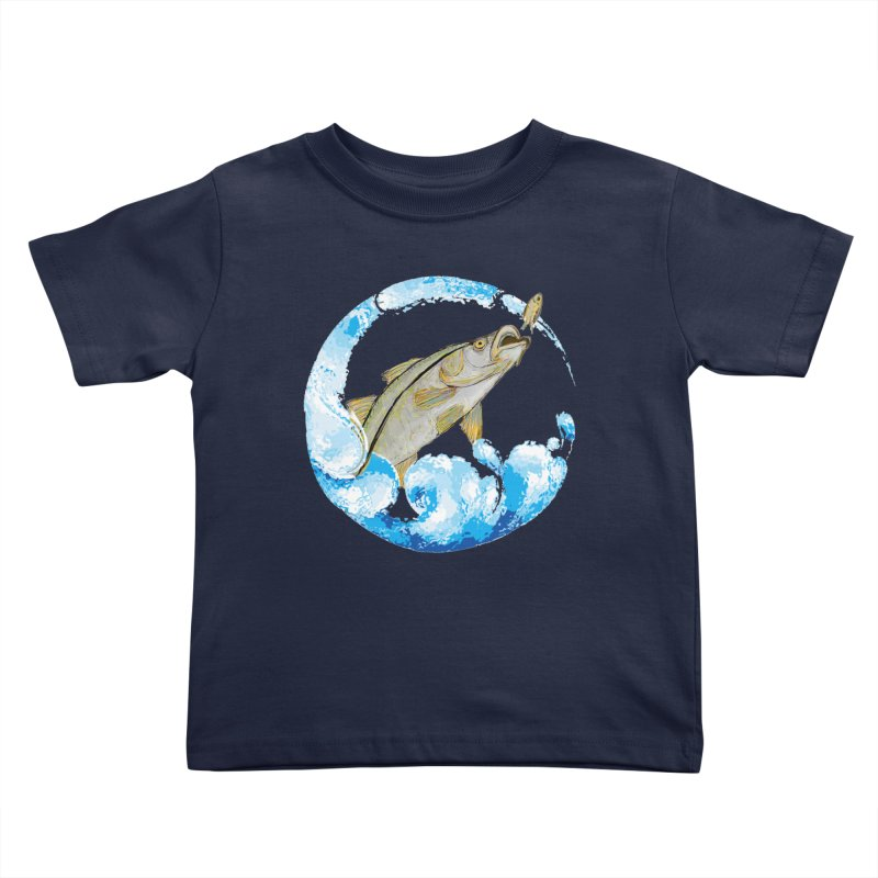 Leaping Snook Kids Toddler T-Shirt by designsbydana's Artist Shop
