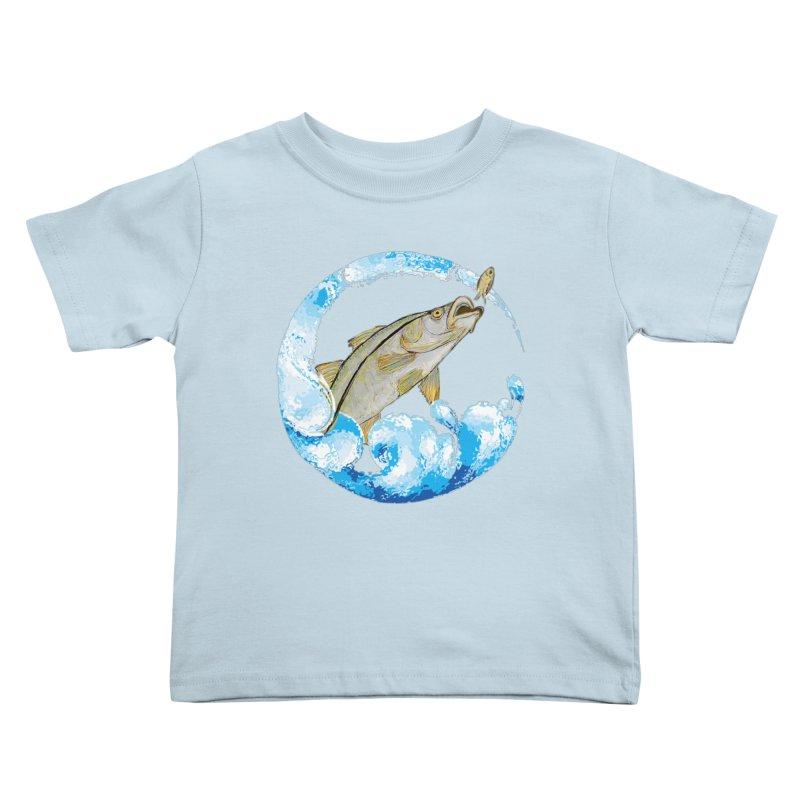 Leaping Snook Kids Toddler T-Shirt by designsbydana's Artist Shop