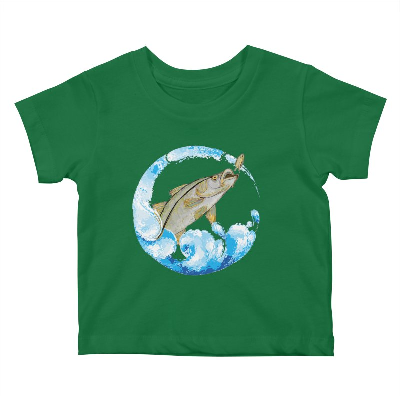 Leaping Snook Kids Baby T-Shirt by designsbydana's Artist Shop