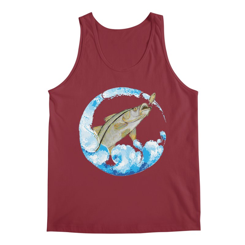 Leaping Snook Men's Tank by designsbydana's Artist Shop