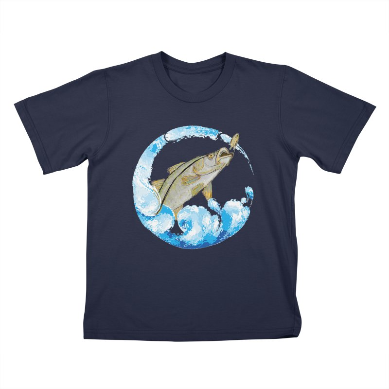Leaping Snook Kids T-Shirt by designsbydana's Artist Shop
